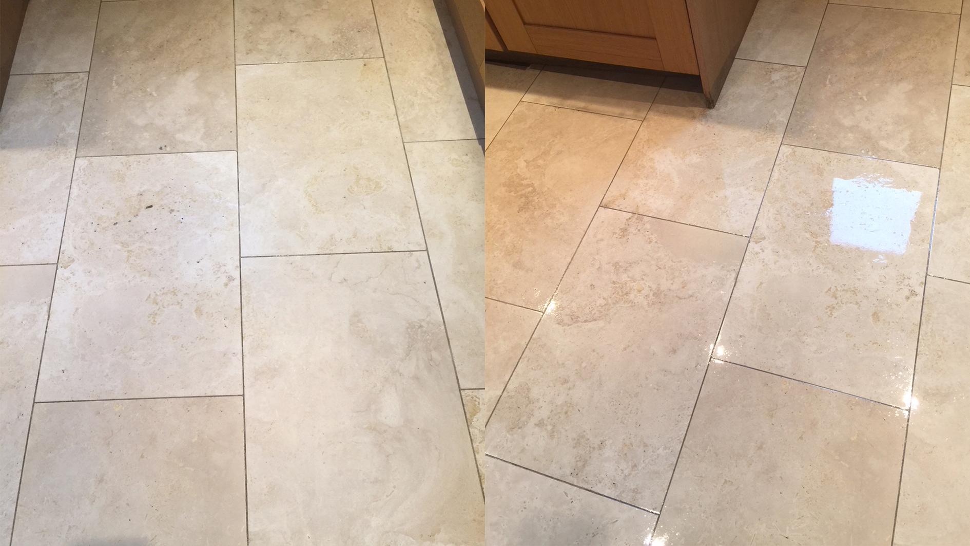 Kitchen floor deep cleaned