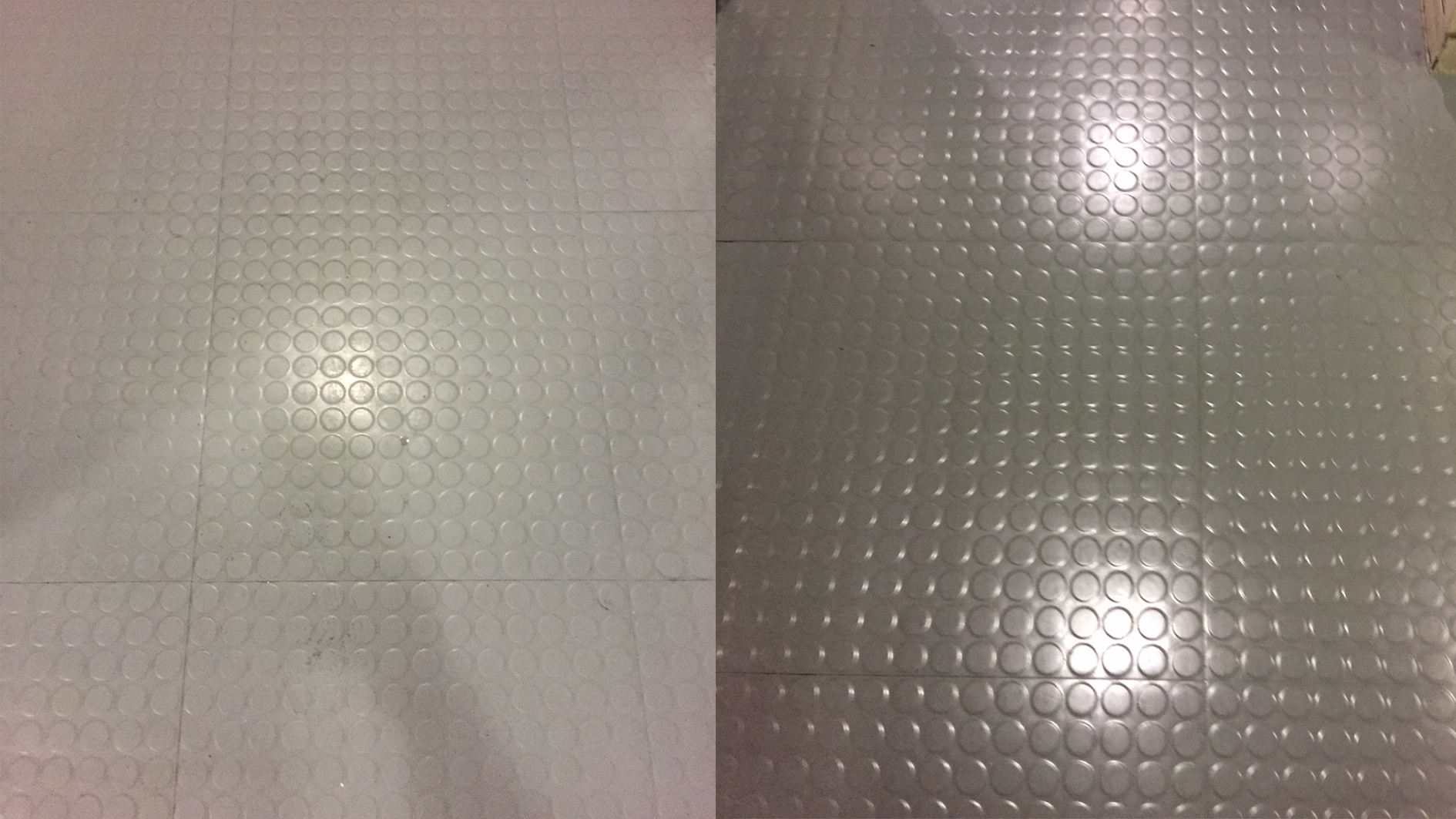 safety floor deep cleaned